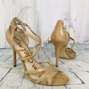Sam Edelman Annabelle Strappy Stiletto Heels Camel